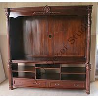 Книжный шкаф с комодом ТВ (Стеллаж)