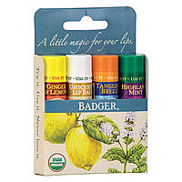 Badger Company, Классический бальзам для губ в виде стика, 4 стика, 0,15 унций (4,2 г) каждый