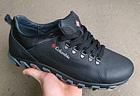 Мужские спортивные кроссовки Великаны Columbia из натуральной кожи и замша