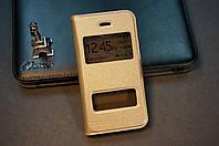 Чехол книжка для  Iphone айфон 4G 4S золотой (золото)