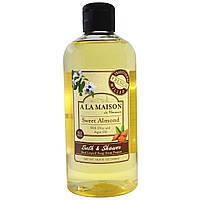 A La Maison de Provence, Жидкое мыло для ванны и душа, сладкий миндаль, 16,9 жидк. унц. (500 мл)