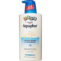 Aquaphor, Детский нежный гель для душа и шампунь, без отдушек, 13,5 жидких унций (400 мл)