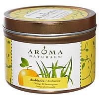 Aroma Naturals, Соя VegePure, для настроения, апельсин и лимонное сорго, 2,8 унции (79.38 гр)
