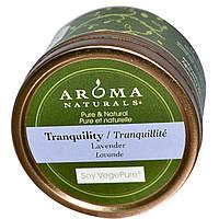 Aroma Naturals, Soy VegePure, спокойствие, свеча для поездок, лаванда, 2,8 унции (79,38 г)