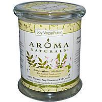 Aroma Naturals, Soy VegePure, на 100% натуральные соевые свечи-столбики, для медитации, пачули и ладан, 8,8 унций (260 г)