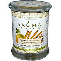 Aroma Naturals, 100% Натуральная Соевая Свеча Умиротворение с Эфирными Маслами Апельсина, Гвоздики и Корицы, 8.8 унций (260 г)