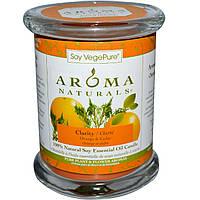 Aroma Naturals, Soy VegePure, на 100% натуральные свечи из соевого эфирного масла, апельсин и кедр, 8,8 унций (260 г)