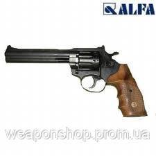 Пистолет под патрон флобера ALFA 461, черный, деревянная рукоятка