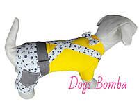 Костюм морячек желтый для собак DogsBomba