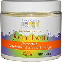 Aura Cacia, Пена для ванн Ароматерапия, пачули / Сладкий апельсин 14 унции (397 г)