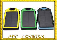 Солнечное портативное зарядное Power Bank 20000