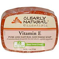 Clearly Natural, Essentials, чистое и натуральное глицериновое мыло с витамином Е 4 унции (113 г)