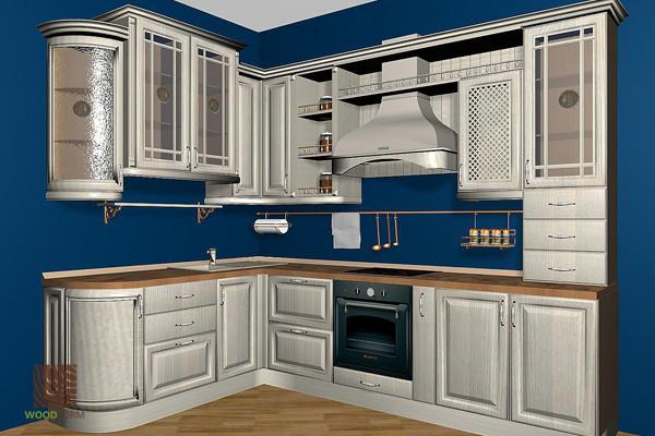 Кухня деревянная Бьянка белая
