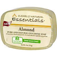 Clearly Natural, Натуральное чистое глицериновое мыло, миндаль, 113 г (4 унции)