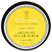 Deep Steep, Скраб для тела на основе арганового масла, с манго и папайей, 8 унций (226 г)