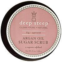 Deep Steep, Скраб для тела на основе арганового масла, с инжиром и абрикосом, 8 унций (226 г)