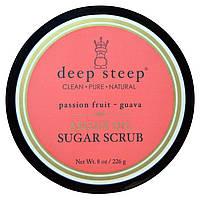 Deep Steep, Скраб для тела на основе арганового масла, с гуавой и маракуйей, 8 унций (226 г)