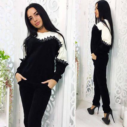 28cbaaa81ae7 Женский спортивный велюровый костюм в больших размерах 489-1