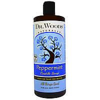 Dr. Woods, Видение ши, очищающее кастильское мыло с перечной мятой, 32 жидких унций (946 мл)