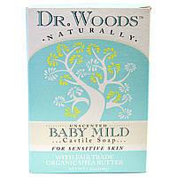 Dr. Woods, Детское мягкое кастильское мыло без отдушек, 5,25 унций (149 г)