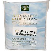 Earth Therapeutics, Подушка с покрытием для ванной Terry, релаксационная терапия, 1 подушка
