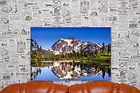 """Картина на холсте """"Вулкан Бейкер. Озеро. Америка. Природа"""". 60х40 см."""
