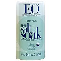 EO Products, Будьте здоровы, соль для ванны, эвкалипт и арника, 22 унции (623,7 г)