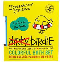 European Soaps, LLC, Дрезденская эссенция, красочный набор для ванной Грязная птичка, соль для ванны, 4 пачки, по 1,76 унции (50 г) каждая