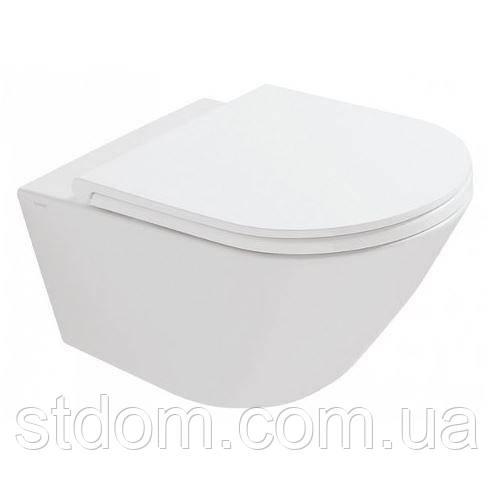 Унитаз подвесной 57х36 Globo Forty3 FOS02.BI белый глянец