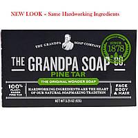 Grandpas, Мыло для лица, тела и волос, сосновая смола, 92 г (3,25 унции)