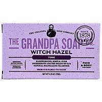 Grandpas, Кусковое мыло для лица и для тела, тонизирующее, с гамамелисом, 4,25 унции (120г)