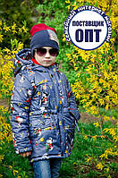 Демисезонная курточка - парка принты для мальчика, фото 1