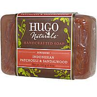 Hugo Naturals, Мыло ручной работы, индонезийский пачули и сандал, 4 унции (113 г)