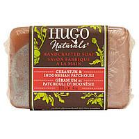 Hugo Naturals, Мыло ручной работы, герань и индонезийский пачули, 4 унции (113 г)
