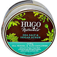 Hugo Naturals, Скраб из морской соли и сахара, с морским критмумом и страстоцветом, 9 унций (255 г)