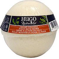 Hugo Naturals, Шипучая бомбочка для ванны, крем и кокос, 6 унций, (170 г)
