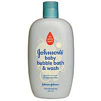 Johnsons Baby, Детская очищающая пена для ванн, 15 жидких унций (443 мл)
