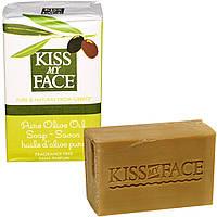 Kiss My Face, Мыло с чистым оливковым маслом, без отдушек, 4 унции (115 г)