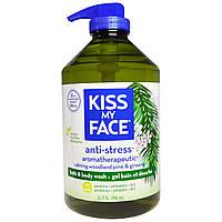 Kiss My Face, Антистрессовое средство для ванны и душа Успокаивающая сосна и женьшень, 946 мл