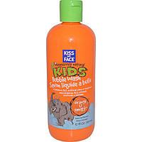 Kiss My Face, Страстно натуральные дети, апельсиновое средство для умниц, детская пена для ванн, 12 жидких унций (354 мл)