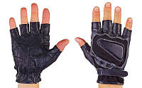 Перчатки спортивные многоцелевые (перчатки атлетические) BC 161: кожа + полиэстер, размер L/XL