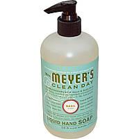 Mrs. Meyers Clean Day, Жидкое мыло для рук с ароматом базилика, 12,5 жидких унций (370 мл)