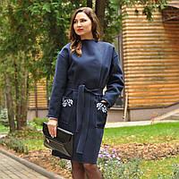 Пальто из натуральной шерсти с вышивкой