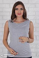 Майка серого цвета для кормящих мам на лето XL