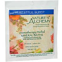 Natures Alchemy, Ароматерапевтические травяные минеральные ванны, Безмятежный сон, пробник, 1 oz (~30 мл)