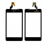 Тачскрин / сенсор (сенсорное стекло) для LG Optimus 3D Max P720 | P725 (черный цвет)