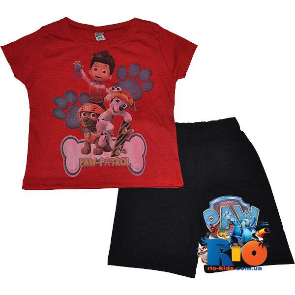 """Яркий костюм для прогулок """"Cute Paw Patrol"""" , трикотаж , для мальчиков (рост 86-98 см) (3 ед. в уп.)"""