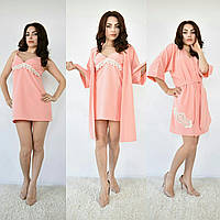 Женский набор  халат  и ночная рубашка