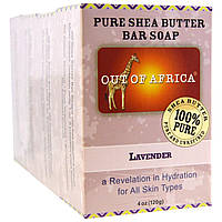 Out of Africa, Pure Shea Butter Bar Soap, Lavender, 4 Pack