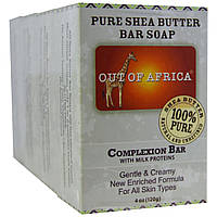 Out of Africa, Pure Shea Butter Bar Soap, Complexion 4 pk